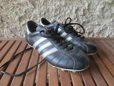 Chaussures de foot ADIDAS vintage BRASIL 1980 cuir made in France boot 42 UK 8