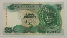 Malaysia 7th Series $5 Ringgit Paper Note In aUNC Condition.