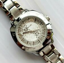Coach watch silver tone with crystals ladies womens watch 2