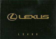 CATALOGUE PUBLICITAIRE LEXUS LS 400  - 1990