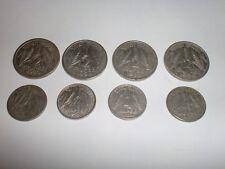 "- INDIA - 4 OLD ""1/2 RUPEE"" +  4 OLD ""1/4 RUPEE""  COINS -1950-1956-ALL RARE# 7EA"