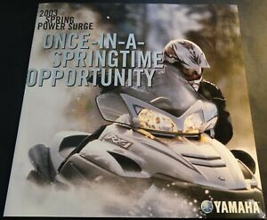 RARE 2003 YAMAHA SNOWMOBILE RX-1 SPRING POWER SURGE SALES BROCHURE 4 PAGE (997)