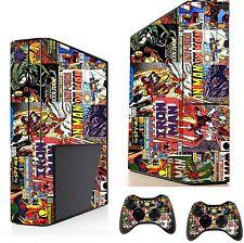 FUMETTI SUPEREROE Adesivo / Pelle XBOX 360E console & controller remoto xsk8
