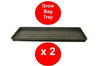 2 x BLACK GROW BAG TRAY - 1 METRE - GARDEN TRAY - RIGID - TOUGH - WATERING TRAY
