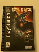 🔥 TOTAL ECLIPSE 🔥PS1 PlayStation 1 PSX 💯 COMPLETE MINT RARE LONG PLASTIC BOX