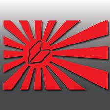 Funny JDM Japanese Leaf Rising Sun Flag Car Vinyl Window Bumper Decal Sticker