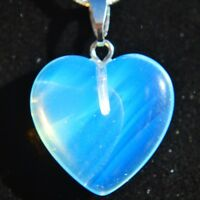"""Perfect Pendant™ Radiant Opalite Heart Pendant + 20"""" Chain by ZENERGY GEMS™"""