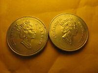 Canada 1996 5 Cents Coins 2 Varieties Near & Far 6.