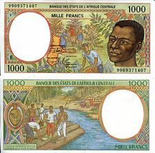 CENTRAL AFRICAN REPUBLIC 1000 Francs Banknote World Paper Money Currency p-302Ff