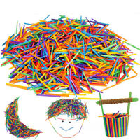 500Pcs/set DIY Wooden Stick Handmade Unfinished Wood Aids Education Toy Craft