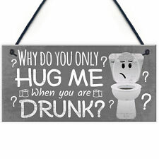 Novelty Bathroom Toilet Plaque Funny Home Decor Hanging Shabby Chic Sign Gift