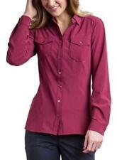 ExOfficio Women's Size Small Kizmet Long Sleeve Button Front Malbec A0409