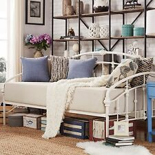 Victorian Iron Metal Daybed Frame Twin Size Antique White Bed French Furniture