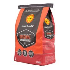 Heat Beads BBQ BRIQUETTES 7.5kg Burns Longer Than Charcoal *Australian Brand