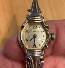 Vintage Ladies Bulova Watch (1953) 17 j  10k Rolled Plate. Running.