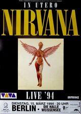 NIRVANA - 1994 - Konzertplakat - Concert - In Utero - Tourposter - Berlin