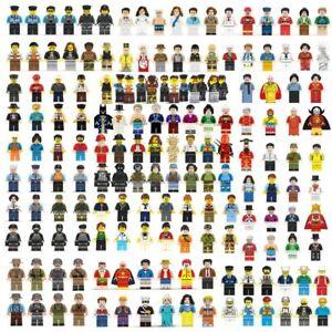100pcs/lot NEW LE GO TYPE CITY PEOPLE Minifigures Building Blocks