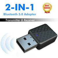 Wireless Bluetooth 5.0 Transmitter Receiver Dongle Stereo Audio Music Adapter