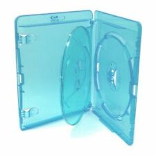 10 Triple Blu ray Case 14mm Spine for Holding 3 Disks Replacement Amaray Cover