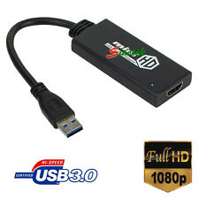 HDTV USB 3.0 Male to HDMI Female Adapter Converter 1080P Full HD for Windows 7 8