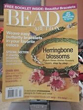 BEAD & BUTTON MAGAZINE Jewelry BEADING BOOK ButterFLy Bracelet Flower NECKLACE