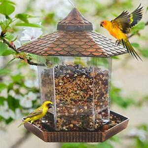 Hanging Wild Bird Feeder For Outside Bird Seed Clearance Squirrel Proof Plastic