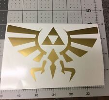 "Legend of Zelda Triforce 6"" GOLD  Car Truck Notebook Vinyl Decal Sticker MACBOOK"