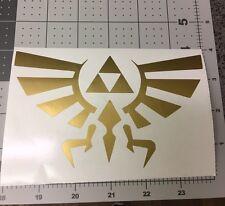 "Legend of Zelda Triforce 6"" GOLD  Car Truck Notebook Vinyl Decal Sticker MACBOOK"