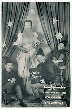 "Old Children's TV Show Promo Fan Photo Card: ""FAIRY TALE PRINCESS"" [Oregon]"