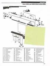 Anschutz 2000,1415,1416,1515,1516 Bolt-Action Rifle Exploded View Parts 2011 Ad