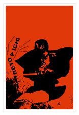 Cuban movie Poster. Japan film SHINTARO Katsu.ZATOICHI.Blind Japanese Samurai