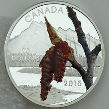 2015 $20 Forests of Canada: Boreal Balsam Poplar, 1 oz. 99.99% Pure Silver Color