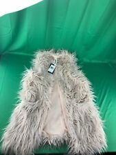 NWT Amadi Oversized Fur Open Vest - Small