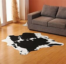Cow Print Faux Cowhide Living Bedroom Non-Slip Carpet Rug Door Mat 4.6X5.2 Feet