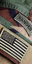 US Army Ranger Patch w/American Flag Themed Cornhole Board Prints / Wraps