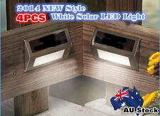 4Pcs Light Solar Power LED Light Wall Lamp Garden Step Outdoor Step AU POST 4X