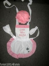 GIRLS KIDS LITTLE MISS MUFFET COSTUME APRON & MOP TOP HAT/WITHOUT M2O All sizes