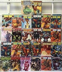 Iron Man Marvel 26 Lot Comic Book Comics Set Run Collection Box