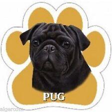 "BLACK PUG - Paw Print 5"" x 5""  Magnet Car Truck SUV Fridge Gift NEW"