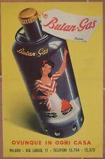 BUTAN GAS MATTEO BOTTOLI RECLAME PUBBLICITARIA PUBBLICITA ADVERTISING CUCINA '50