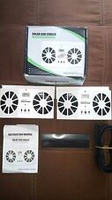 2 Solar Powered Dual High Fan Car cooler ventilator includes rechargeable AA's