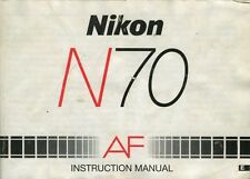 181881 NIKON N70 GENUINE INSTRUCTION MANUAL