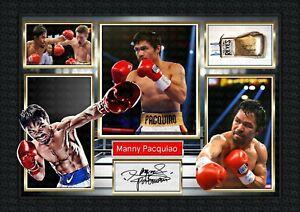 Manny Pacquiao -Boxing  ORIGINAL A4 Signed PHOTO PRINT MEMORABILIA