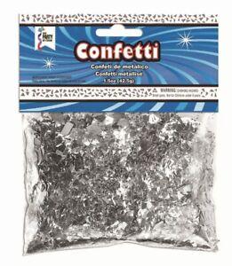4 Bags Confetti Silver (42g) 1.5 oz