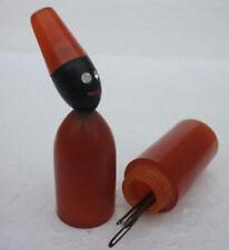 Wonderful Bakelite Figurative Sewing Needle Case 1920's