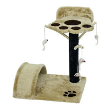 Cat Kitten Scratching Post Tree Scratcher Bed Activity Centre Sisal Climbing Toy