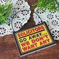 Door Hanger Solicitors No Soliciting Solicit Fits over Doorknob USA Ring NEW