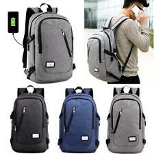 1xUnisex School Large Backpack Travel Rucksack Shoulder Laptop Bag USB