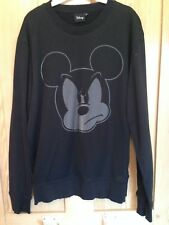 Mickey Mouse Sweat shirt Top - disney angry mickey MOUSE BLACK SIZE M MEDIUM