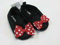 NWT Baby Gap Girls Size 3-6 Months Red Heart Minnie Mouse Crib Shoes